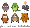 Wild animals on white background 38793920