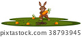 Bunny and carrot garden 38793945