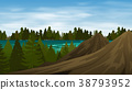 Background scene forest on mountain 38793952