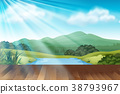 Background scene with park at daytime 38793967