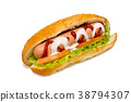 Hot-dog on a white background 38794307