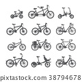 bicycle, cartoon, illustration 38794678