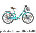 City walking women's bicycle. Vector illustration 38794688