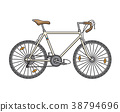 City fixed sport bicycle. Vector illustration 38794696