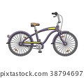 City cruise bicycle. Vector illustration 38794697