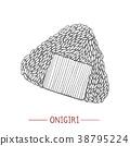 Onigiri in Hand Drawn Style 38795224