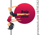 Pole Dancer in Cartoon Style 38795362