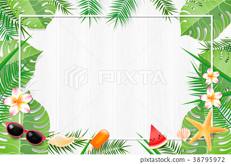 Abstract background blank white wood with leaf  38795972