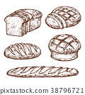 bread, bakery, sketch 38796721