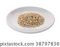 pearls barley grain seed on background 38797836