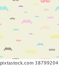 mustache seamless pattern. Vector eps10. 38799204