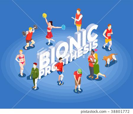 Bionic Prosthesis Isometric Vector Illustration  38801772