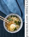 Bowl of ramen soup 38802312