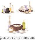 Spa vector icons treatment beauty procedures 38802506