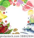 成份食物职员白色背景 38802694