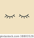 Eyelashes. Closed eyes. 38803526