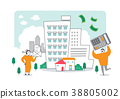 Illustration - financial concept, spending and tax relation illustration. 011 38805002