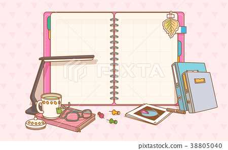 flat design with empty sheet note or board. blank white background illustration. 007 38805040