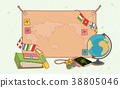 flat design with empty sheet note or board. blank white background illustration. 020 38805046