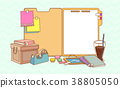 flat design with empty sheet note or board. blank white background illustration. 010 38805050
