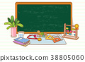 flat design with empty sheet note or board. blank white background illustration. 016 38805060