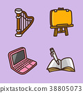 flat icons set - school objects and education items isolated on white background. 038 38805073