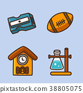 flat icons set - school objects and education items isolated on white background. 050 38805075
