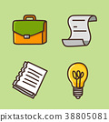 flat icons set - school objects and education items isolated on white background. 032 38805081