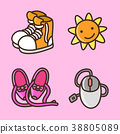 flat icons set - school objects and education items isolated on white background. 046 38805089