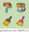 flat icons set - school objects and education items isolated on white background. 059 38805111
