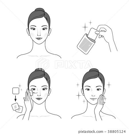 Icons set of cosmetics, beauty and symbols collection made in modern linear vector. 016 38805124