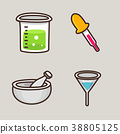 flat icons set - school objects and education items isolated on white background. 034 38805125
