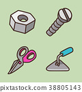 flat icons set - school objects and education items isolated on white background. 060 38805143