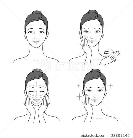 Icons set of cosmetics, beauty and symbols collection made in modern linear vector. 020 38805146