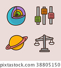 flat icons set - school objects and education items isolated on white background. 080 38805150