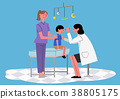 Illustration for a full medical examination, have regular checkups for your health. 008 38805175