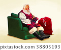 Vector - Santa's day, give a present to children all over the world on Christmas. it's express his busy Christmas. 006 38805193