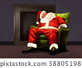 Vector - Santa's day, give a present to children all over the world on Christmas. it's express his busy Christmas. 008 38805198