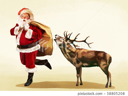 Vector - Santa's day, give a present to children all over the world on Christmas. it's express his busy Christmas. 009 38805208