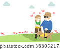 Illustration for the Society of Sharing Love, the most beautiful ways we can help others it shows the spirit of sharing. 017 38805217