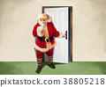 Vector - Santa's day, give a present to children all over the world on Christmas. it's express his busy Christmas. 004 38805218