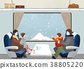 Illustration - Enjoy winter season. Have fun enjoy winter activities with family or friends. 007 38805220