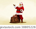Vector - Santa's day, give a present to children all over the world on Christmas. it's express his busy Christmas. 010 38805226