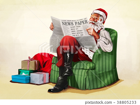 Vector - Santa's day, give a present to children all over the world on Christmas. it's express his busy Christmas. 001 38805233