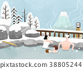 Illustration - Enjoy winter season. Have fun enjoy winter activities with family or friends. 001 38805244