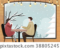 Illustration - Enjoy winter season. Have fun enjoy winter activities with family or friends. 009 38805245