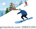 Illustration - Enjoy winter season. Have fun enjoy winter activities with family or friends. 011 38805260