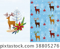 Vector pattern design related of winter season - a lucky bag, magpie, Christmas object and so on. 006 38805276