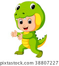 cartoon, crocodile, costume 38807227