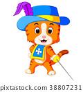 kitten musketeer with sword 38807231